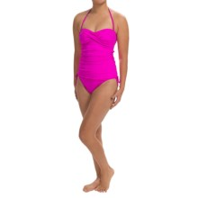 La Blanca One-Piece Bandeau Swimsuit - Side Cinched (For Women) in Pink - Closeouts