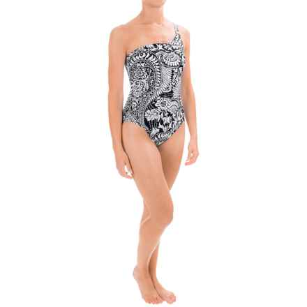 La Blanca One-Shoulder One-Piece Swimsuit - Molded Cups (For Women) in Black - Closeouts