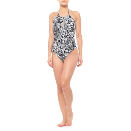77ef4efc15 La Blanca Paisley One-Piece Halter Swimsuit - Padded Cups (For Women) in