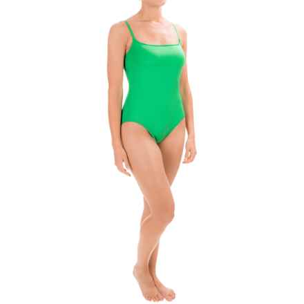 La Blanca Solid One-Piece Swimsuit - Padded Cups (For Women) in Emerald - Closeouts