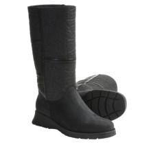 La Canadienne Atlanta Boots - Leather-Nubuck, Faux-Shearling Lining (For Women) in Black - Closeouts