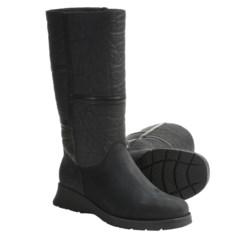 La Canadienne Atlanta Boots - Leather-Nubuck, Faux-Shearling Lining (For Women) in Black