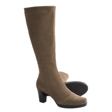 La Canadienne Keigi Tall Boots - Suede (For Women) in Terra Suede - Closeouts