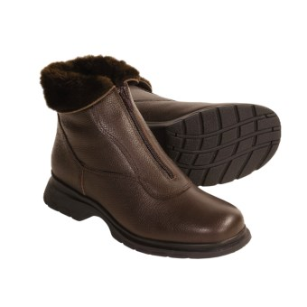 La Canadienne Tish Boots (For Women) in Brown Pebbled