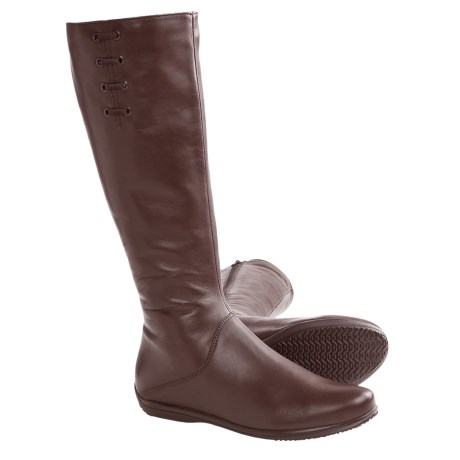 La Canadienne Vina Tall Boots (For Women) in Brown Leather