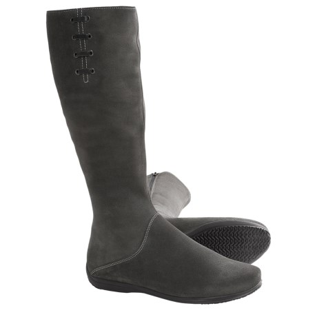 La Canadienne Vina Tall Boots (For Women) in Smoke Suede