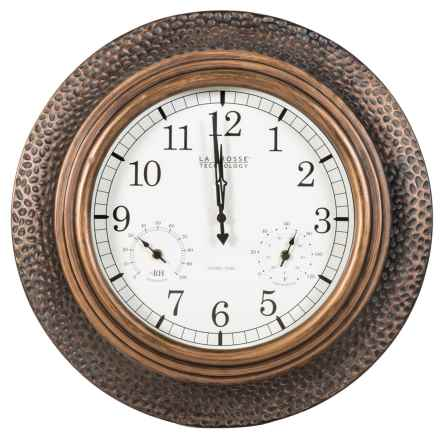 "La Crosse Technology 22"" Atomic Wall Clock in Copper - Closeouts"