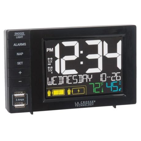 La Crosse Technology Alarm Clock Charging Station in Black