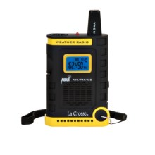 La Crosse Technology AM/FM Handheld Weather Radio in Black - Closeouts