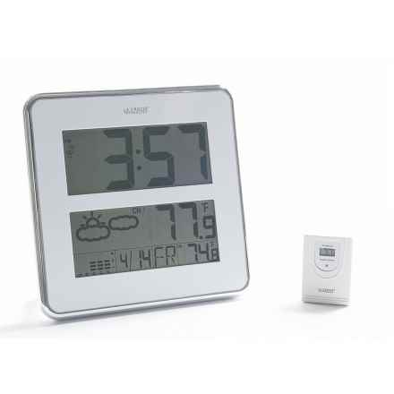 La Crosse Technology Atomic Digital Clock with Temperature and Forecast in White - Closeouts