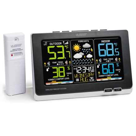 La Crosse Technology Color Wireless Weather Station in Black - Overstock