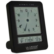 La Crosse Technology Digital Analog Alarm Clock in Black - Closeouts