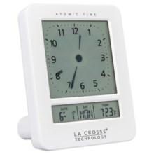 La Crosse Technology Digital Analog Alarm Clock in White - Closeouts