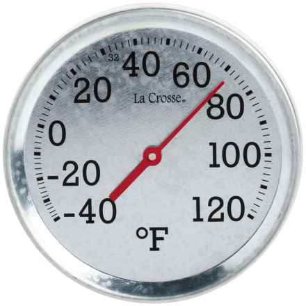 "La Crosse Technology Galvanized Metal Thermometer - 8"" in Metal - Closeouts"