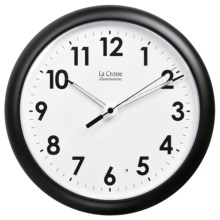 "La Crosse Technology Illuminations 10"" Wall Clock - Glowing Hands in See Photo - Overstock"