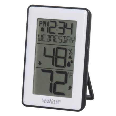 La Crosse Technology Indoor Temp and Humidity Station in White - Closeouts