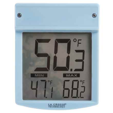 La Crosse Technology Outdoor Window Thermometer in White - Overstock