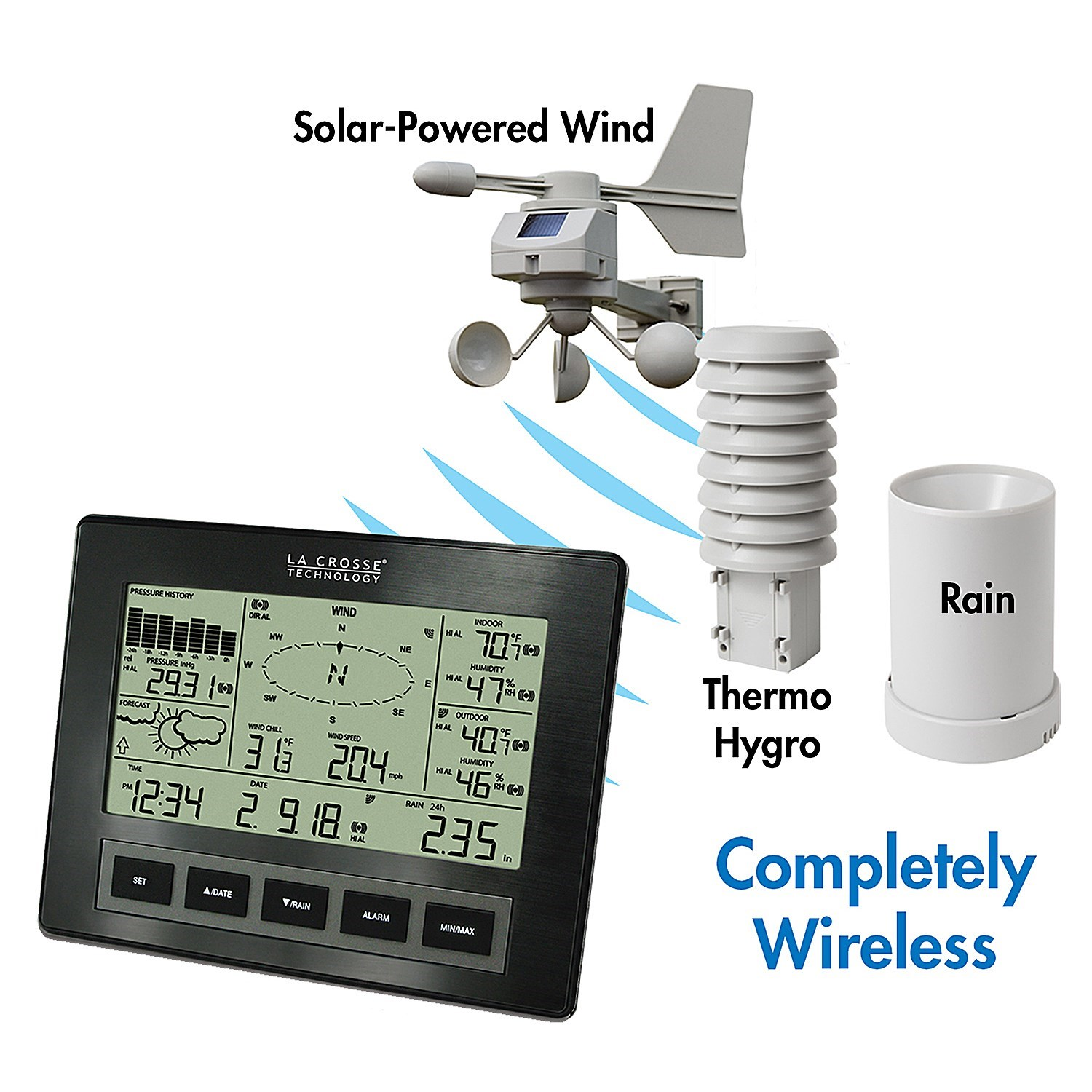 la crosse technology professional wireless weather station with alerts save 64. Black Bedroom Furniture Sets. Home Design Ideas