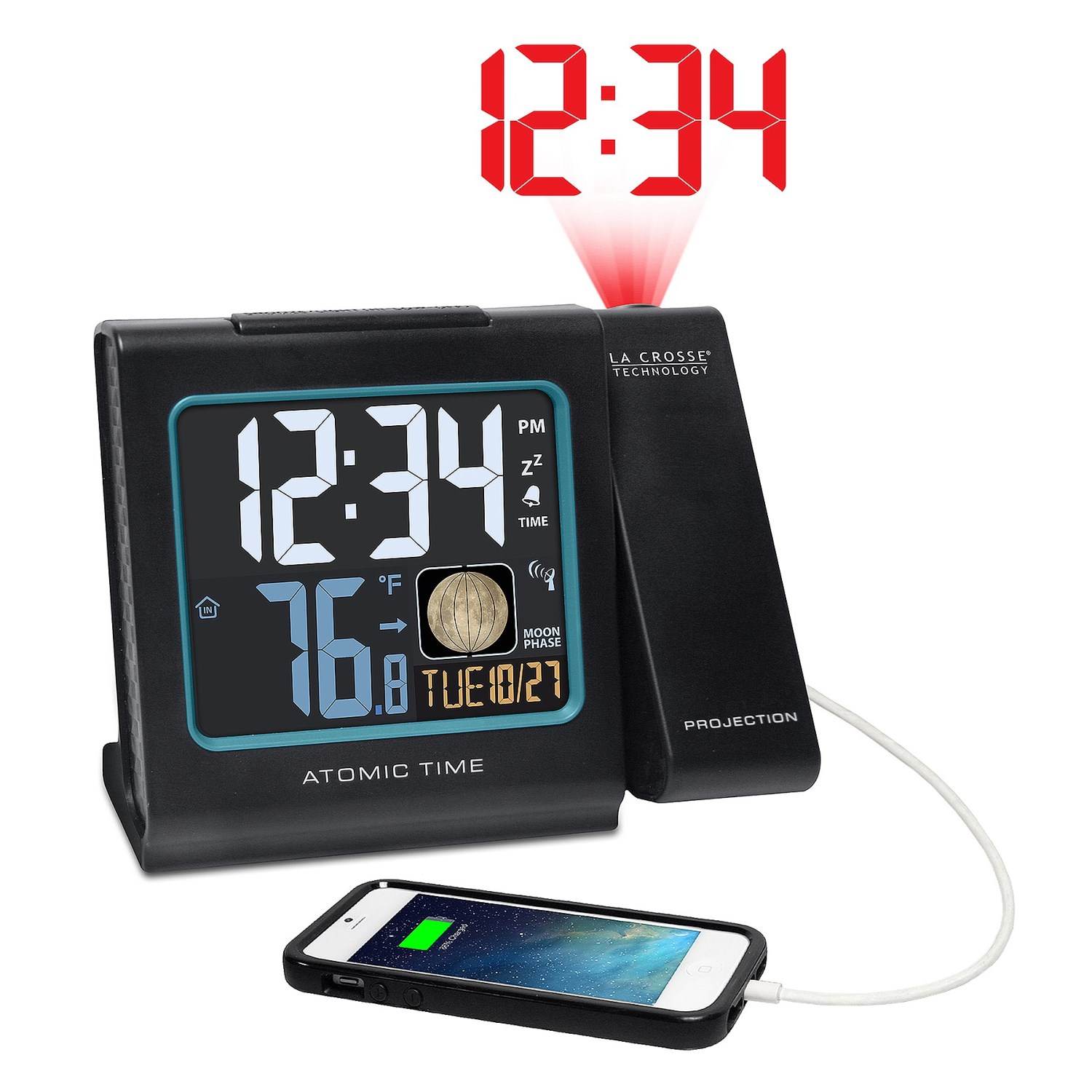 la crosse technology projection alarm clock 110cm save 65. Black Bedroom Furniture Sets. Home Design Ideas
