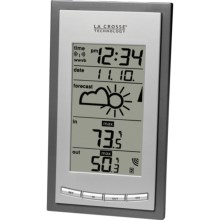 La Crosse Technology Wireless Air-Pressure Forecast Station in Silver - Closeouts