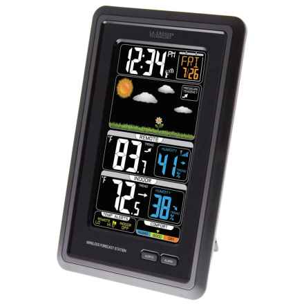 La Crosse Technology Wireless Color Forecast Station in Black - Closeouts