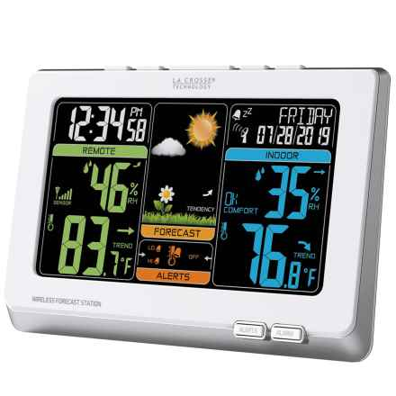 La Crosse Technology Wireless Color Weather Forecast Station in White - Closeouts