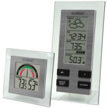 La Crosse Technology Wireless Forecast Station - Indoor Comfort Meter in Silver / Clear - Closeouts