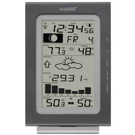 La Crosse Technology Wireless Forecast Station - Pressure History in Silver - Closeouts