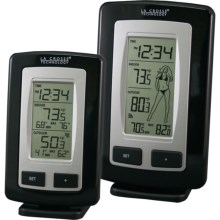 La Crosse Technology Wireless Temperature Station Combo in Black / Silver - Closeouts