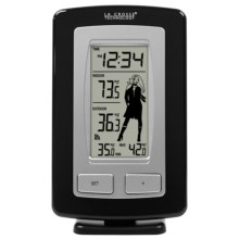 La Crosse Technology Wireless Temperature Station - Weather Girl in Black - Closeouts