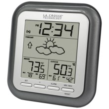 La Crosse Technology Wireless Weather Station with Forecast in Silver - Closeouts