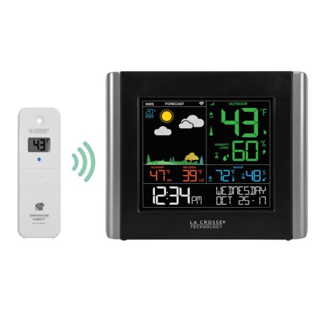 La Crosse Technology Wireless Wi-Fi Essential Weather Station in Black