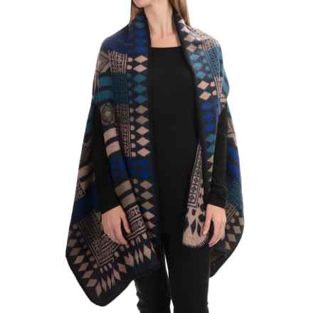 La Fiorentina Aztec Wrap (For Women) in Blue - Closeouts