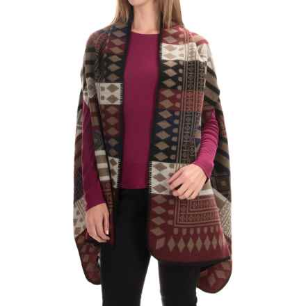 La Fiorentina Aztec Wrap (For Women) in Burgundy - Closeouts