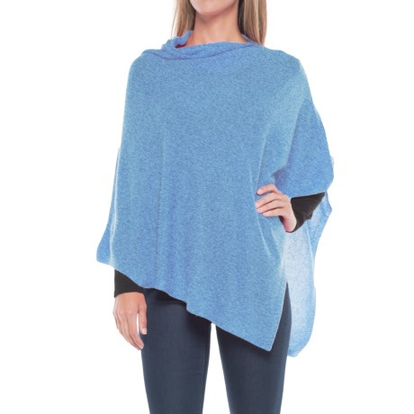 La Fiorentina Cashmere Wrap (For Women) in Light Blue