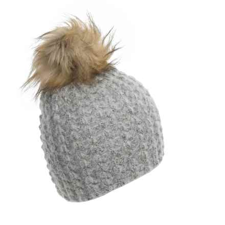 La Fiorentina Chunky Knit Hat (For Women) in Grey - Closeouts