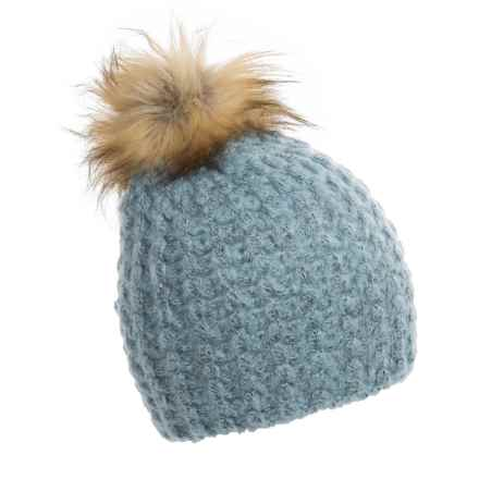 La Fiorentina Chunky Knit Hat (For Women) in Light Blue - Closeouts