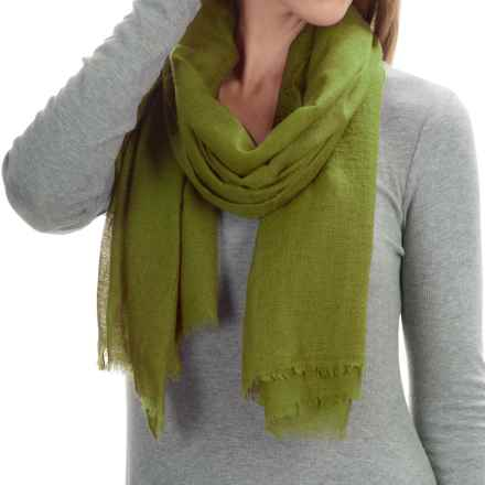 """La Fiorentina Featherweight Cashmere Scarf - 27x70"""" (For Women) in Olive - Closeouts"""