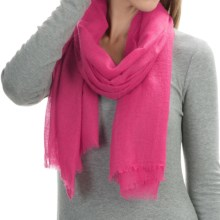 """La Fiorentina Featherweight Cashmere Scarf - 27x70"""" (For Women) in Pink - Closeouts"""