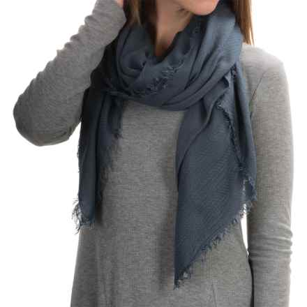 "La Fiorentina Italian Collection Scarf - 52x74"" (For Women) in Dark Grey - Closeouts"