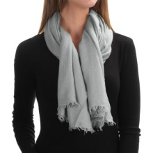 "La Fiorentina Italian Collection Scarf - 52x74"" (For Women) in Light Grey - Closeouts"