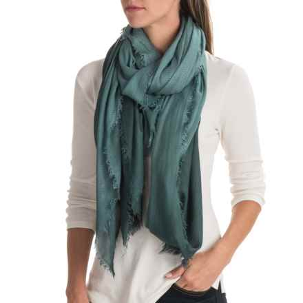 La Fiorentina Ombre Modal Scarf (For Women) in Jade - Closeouts
