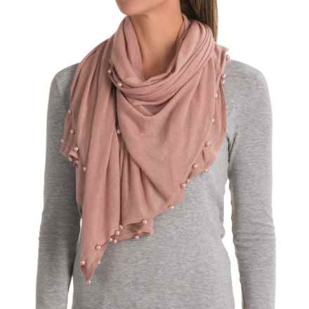La Fiorentina Pearl-Beaded Scarf (For Women) in Pink - Closeouts