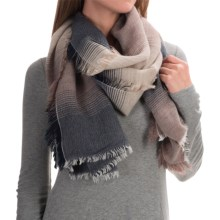 La Fiorentina Portland Italian Art Scarf (For Women) in Beige/Grey - Closeouts