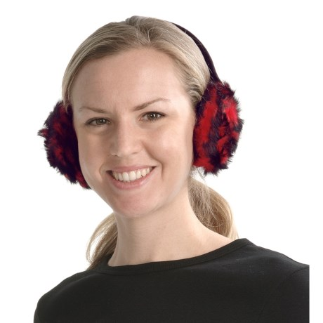 La Fiorentina Rosette Earmuffs - Rabbit Fur (For Women)