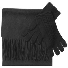 La Fiorentina Scarf and Glove Set - Cashmere-Wool (For Women) in Black - Closeouts