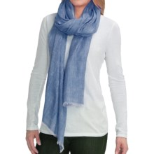 La Fiorentina Scarf - Linen-Cashmere (For Women) in Blue - Closeouts