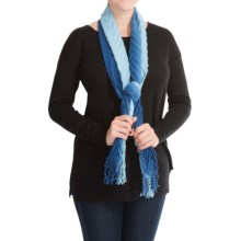 "La Fiorentina Shaded and Pleated Wool Scarf - 62x6"" (For Women) in Sapphire - Closeouts"