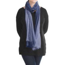 """La Fiorentina Shaded Wool-Silk Scarf - 82x44"""" (For Women) in Navy/Grey - Closeouts"""