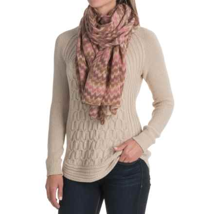 La Fiorentina Wool and Cashmere Blend Wrap (For Women) in Pink Combo - Closeouts
